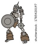 Evil Undead Skeleton With...