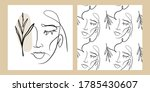 one line drawing style female...   Shutterstock .eps vector #1785430607