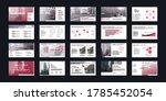 geometric red presentation... | Shutterstock .eps vector #1785452054
