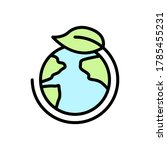 earth  leaf icon. simple color...