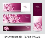 vector banners with lily... | Shutterstock .eps vector #178549121