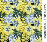 vector texture with exotic...   Shutterstock .eps vector #1785510497
