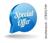 blue round special offer speech ... | Shutterstock .eps vector #178551749