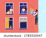 happy beloved man giving gift... | Shutterstock .eps vector #1785520547
