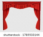 red curtains realistic. theater ... | Shutterstock .eps vector #1785533144