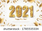 happy new year banner with gold ... | Shutterstock .eps vector #1785535334