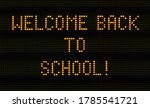 a traffic sign saying welcome... | Shutterstock . vector #1785541721