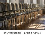 Rows Of Elegant Chairs In The...