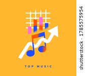 top music colorful flat icon... | Shutterstock .eps vector #1785575954