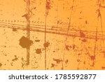 empty grunge yellow color... | Shutterstock .eps vector #1785592877