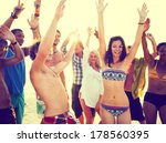 young people dancing at summer... | Shutterstock . vector #178560395