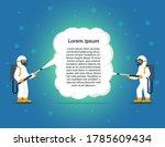people in hazmat suits cleaning ... | Shutterstock .eps vector #1785609434