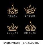 set of crown logo templates.... | Shutterstock .eps vector #1785609587