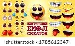 funny emoji vector creator set. ... | Shutterstock .eps vector #1785612347