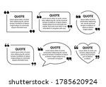 set of quote text boxes  frames ... | Shutterstock .eps vector #1785620924