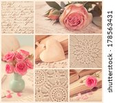 Collage Of Retro Photos With...