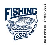 Crucian Fish T Shirt Print...