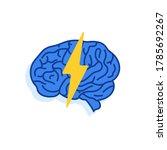lightning with brain like...   Shutterstock .eps vector #1785692267