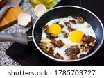 Process Of Frying Of Eggs With...