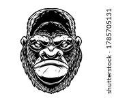 illustration of head of gorilla ...   Shutterstock .eps vector #1785705131