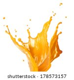 orange juice splash isolated on ... | Shutterstock . vector #178573157