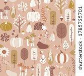 autumn seamless vector pattern...   Shutterstock .eps vector #1785735701