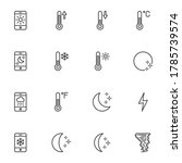 weather temperature line icons...   Shutterstock .eps vector #1785739574