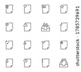 document file line icons set ...
