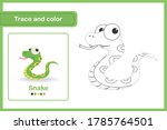 drawing worksheet for preschool ... | Shutterstock .eps vector #1785764501