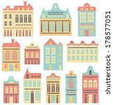vector houses set | Shutterstock .eps vector #178577051