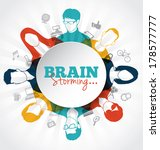 brainstorming with group of... | Shutterstock .eps vector #178577777