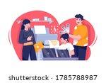 advertising agency illustration.... | Shutterstock .eps vector #1785788987