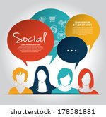 social media icons with group... | Shutterstock .eps vector #178581881