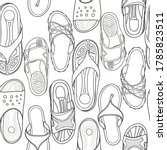 Hand Drawn Shoes Seamless...
