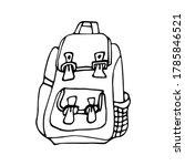 marker drawing of a school... | Shutterstock .eps vector #1785846521