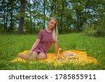 Woman Relaxing Outdoors ...