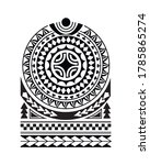tattoo sketch maori style for... | Shutterstock .eps vector #1785865274