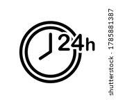 24 hour clock icon  vector icon ...