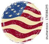 american grunge flag. grunge... | Shutterstock .eps vector #178588295