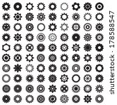collection of gear wheels... | Shutterstock .eps vector #178588547