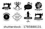 Tailor Shop Logos Set. Vintage...