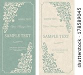 set of antique greeting cards ... | Shutterstock .eps vector #178589045