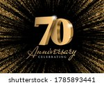 anniversary 70. gold 3d numbers.... | Shutterstock .eps vector #1785893441