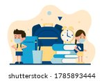 school reopening with safety... | Shutterstock .eps vector #1785893444