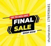 final sale banner template... | Shutterstock .eps vector #1785908681