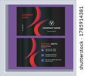 corporate business card design... | Shutterstock .eps vector #1785914381
