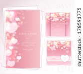 wedding invitation set | Shutterstock .eps vector #178591775