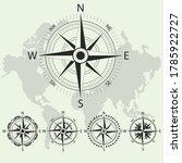 retro nautical compass. retro... | Shutterstock .eps vector #1785922727
