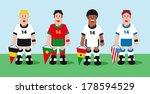 soccer teams | Shutterstock .eps vector #178594529