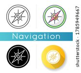 compass icon. marine and land... | Shutterstock .eps vector #1785949667
